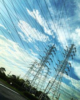 電線の写真・画像素材[4039210]