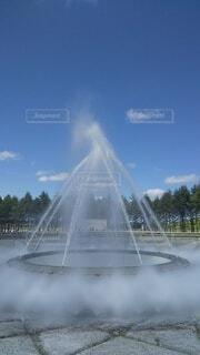 風景,空,公園,夏,屋外,雲,樹木,噴水