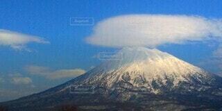 自然,風景,空,雪,屋外,雲,山,パノラマ,ニセコ,日中,羊蹄山