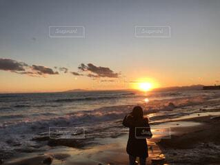 海,朝日,ビーチ,海岸,正月,お正月,日の出,湘南,新年,初日の出,自分