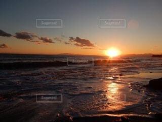 海,朝日,ビーチ,海岸,正月,お正月,日の出,湘南,新年,初日の出