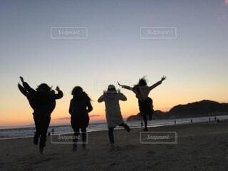 朝日,海岸,正月,お正月,日の出,湘南,友達,新年,初日の出