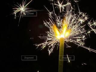 夏,夜,花火,火,明るい,景観,パチパチ