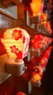 花,夜,花瓶,ランタン,光,電気,キャンドル