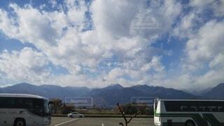 空,屋外,雲,山