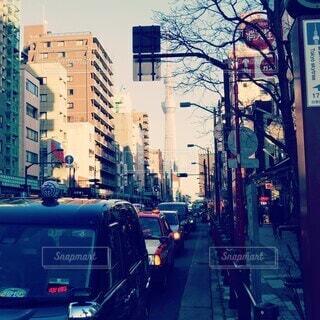 風景,建物,都会,道,高層ビル