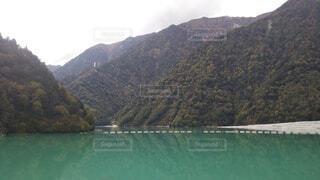 自然,湖,水面,山,景色