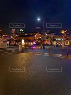 夜,屋外,イルミネーション,都会,神戸,明るい