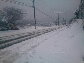 空,冬,雪,屋外,道路,樹木
