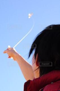空,人,正月,凧揚げ