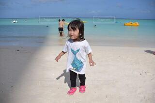 子ども,風景,海,砂,ビーチ,砂浜,水面,海岸,人,赤ちゃん,幼児,若い,人間の顔