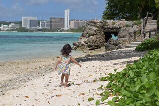 風景,屋外,ビーチ,水面,海岸,少女,人,幼児
