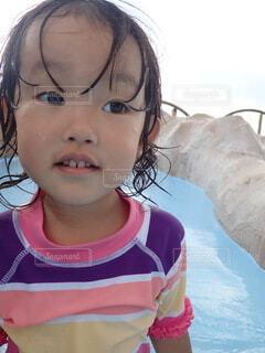 海,夏,屋外,ビーチ,プール,泳ぐ,人,笑顔,幼児,人間の顔