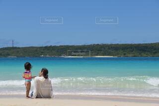 自然,海,空,夏,屋外,湖,ビーチ,親子,水面,海岸,リゾート