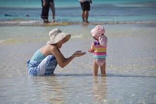 風景,屋外,ビーチ,水着,水面,海岸,泳ぐ,少女,人,人間の顔,日よけ帽