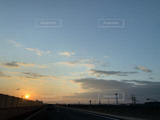空,屋外,綺麗,夕暮れ,オレンジ,日暮れ
