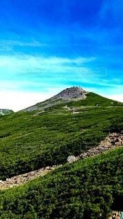 自然,空,緑,山,登山,草,高原,眺め