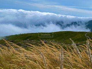 自然,風景,雲,山,丘,山腹