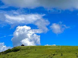 自然,風景,空,屋外,緑,雲,青,山,景色,草,丘,大地,山腹