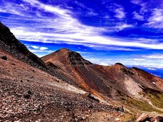自然,空,屋外,雲,山,斜面,岩山,山腹