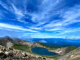 自然,風景,空,屋外,湖,雲,山,眺め,山腹