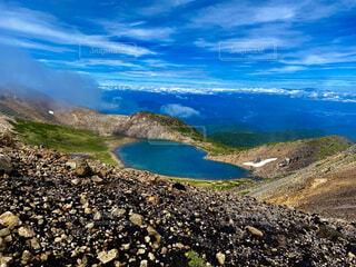 自然,風景,湖,雲,山,丘,ハート,眺め,山腹