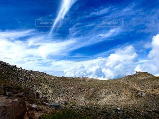 自然,風景,空,雲,山,岩,山腹
