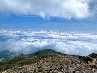 自然,風景,空,雲,山,眺め,山腹
