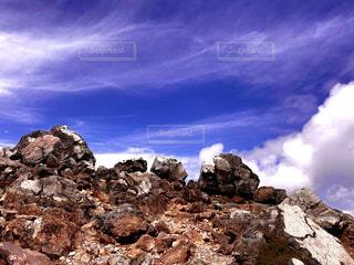 風景,空,屋外,雲,山,岩,山腹