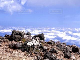 自然,風景,空,屋外,雲,山,岩,雲海