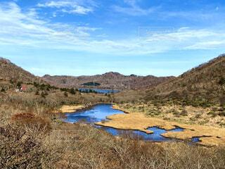 自然,風景,空,屋外,湖,水面,山,草
