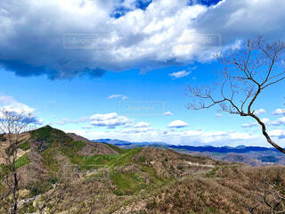 自然,風景,空,屋外,雲,山,草,樹木,大地,草木,眺め