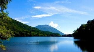 自然,風景,空,屋外,湖,雲,水面,山,景色,樹木