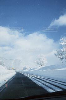 自然,空,冬,屋外,雲,道路,山,高速道路,樹木,道,冷たい,日中