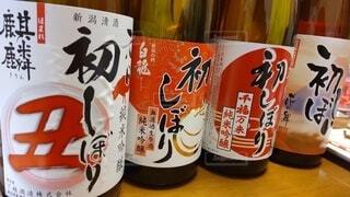 日本酒,お酒,赤,牛,めでたい,日本,お正月,お祝い,酒,初,麒麟,飲料,うし,酔う,一升瓶,お屠蘇,飲みたい,丑,丑年,4種,呑みたい,茶瓶,牛年,2021,初しぼり,2021年