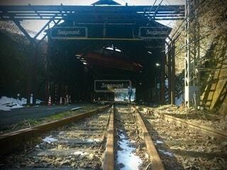 駅,旅行,地面,鉄道,レール,スイッチバック