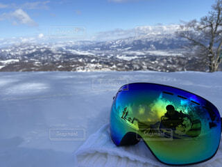 空,冬,雪,屋外,山,景色,反射,眼鏡,スキー,ゴーグル,運動,ゲレンデ,パノラマ,スノーボード,ウィンタースポーツ