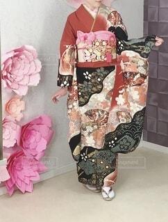 着物,イベント,赤と黒,和服,お祝い,晴れ着,振袖,成人式,和装,行事,成人の日,成人写真