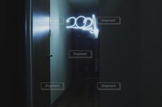 青,暗い,アート,新年,ライトペインティング,2021,2021年