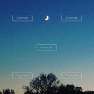 空,夜空,屋外,夕暮れ,月