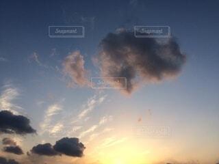 自然,空,屋外,雲,青,夕暮れ,景色,光,グラデーション
