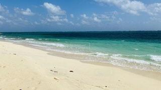 自然,風景,海,南国,ビーチ,雲,プール,青,水面,海岸,沖縄,キラキラ,離島,沖縄離島