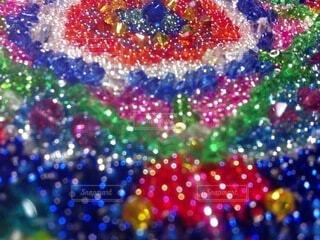 カラフル,鮮やか,カラー,きらめき,彩り,万華鏡,ビーズ,曼荼羅,ビーズ刺繍