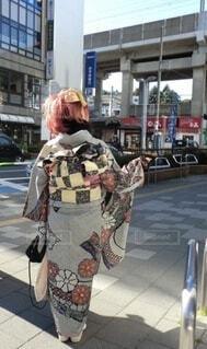 ファッション,着物,イベント,和服,お祝い,晴れ着,振袖,成人式,和装,絞り,行事,赤髪,成人の日