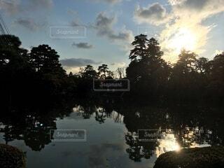 風景,空,屋外,湖,雲,川,水面,反射,樹木