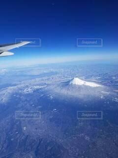 風景,空,富士山,雪,屋外,飛行機,航空機,フライト,空の旅