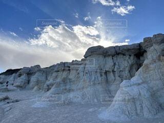空,屋外,雲,綺麗,アメリカ,山,美しい,岩,石