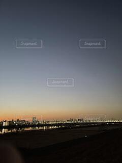 空,東京,夕暮れ,荒川,コロナ禍