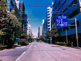 街の通りの眺めの写真・画像素材[4052156]