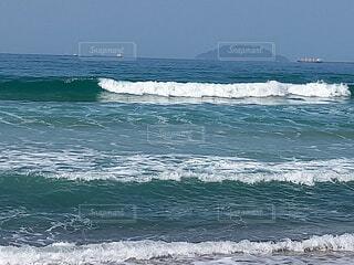 自然,海,空,屋外,ビーチ,波,水面,マリンスポーツ,日中